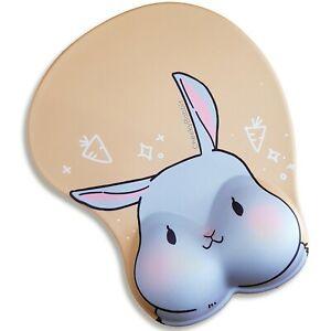 Anime Rabbit 3D Computer Laptop Mouse Pad Gaming Mousepad Wrist Rest 🚚 FREE