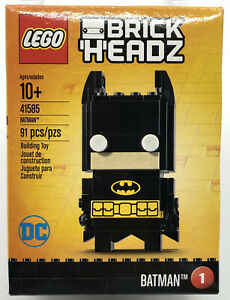 Batman BrickHeadz #1 LEGO DC 41585 Retired New Factory Sealed 2017 Brick Headz