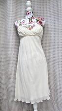 NICOLE MILLER Collection Women's 100% Silk White Cocktail Bridal Dress SZ 10 EUC