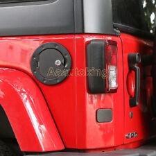 Black Locking Fuel Tank Cover Gas Lid Filler Cap Door Fit For Jeep Wrangler 07UP