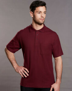 FreePost;  PS41 POCKET Polyester Cotton Mens Polo Shirt