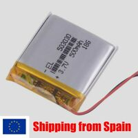 BATERÍA 503030 LiPo 3.7V 500mAh 1S para bluetooth gps vídeo mp3 mp4 mp5 luz led