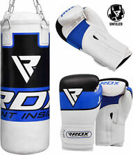 RDX Kids Punching Bag Junior Heavy Children Boxing Glove UnFilled Punch Leather