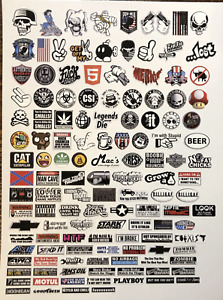 1/10 1/8 RC Sticker Bomb Decal Sheet - Traxxas Arrma Losi axial. 130+ stickers