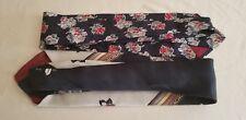 Cambridge Classic Vntg Lot of 2 Men's Neckties  Italian Silk 60 X 3.5in. Floral