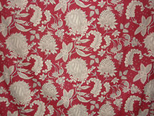 POTTERY BARN MARGARET PALAMPORE FLORAL RED LINEN SET OF LINED CURTAINS DRAPES