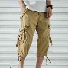 Cargo Shorts Cotton Shorts Mens Summer Short Pants Casual Sweat Long Shorts