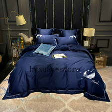 Luxury 60S Egypt Cotton Feather Pure Bedding Set Embroidery Duvet Cover Sheet