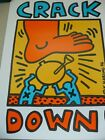 Keith Haring 1st Published Printed 'Crack Down' Poster from(1986) New York Gig