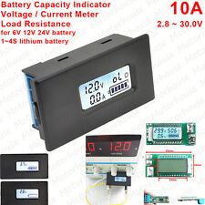 10A Digital Lithium Li-ion Battery Capacity Indicator Meter Voltage Current 12V