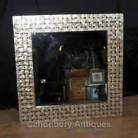 Regency Shell Square Mirror Glass Mantle Mirrors Rattan Regency Shell Square Mir