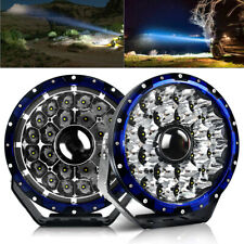 Pair 9inch Round Laser LED + DRL Spot Driving LED Lights Offroad 4x4 ATV Work