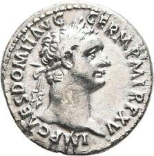 LANZ ROMAN EMPIRE DOMITIAN DENARIUS MINERVA SPEAR THUNDER SHIELD SILVER §GOC1622