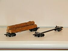 Lionel HO Undecorated Log Cars w/3 Logs Used