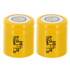 2x 1/2Sc 700mAh 1.2V Flat top Rechargeable Battery For Razor Frs Solar Diy Pack