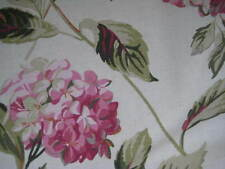 NEW LAURA ASHLEY HYDRANGEA PINK/NATURAL FLORAL FABRIC MATERIAL (PER METRE)