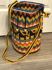 Bohemian Crochet Tote Sack Boho Beach Bag
