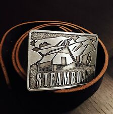 "Ski Steamboat Springs Resort BELT BUCKLE 3""x2"" Colorado downhill Snowboarding"