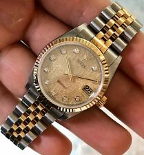 2002 Rolex DateJust 78273 Midsize Anniversary Diamond Dial Wristwatch 31mm ORG.