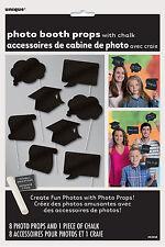 Graduación de 8 negro pizarra apoyos de la foto Accesorios Y Blanco Tiza Para Personalizar Props