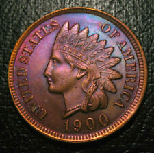 OLD US COINS 1900 INDIAN HEAD CENT PENNY UNC TONED  GEM