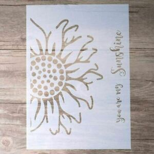 Decorative Sunflower Stencil Template for Painting on Walls Furniture (A4 Size)