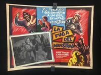 1959 La Fuga Del Monstruo Peter Dyneley HORROR Authentic MEXICAN LOBBY CARD-A360