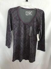 NWT Erge Designs JR. Medium 3/4 Sleeve Purple & Gray Top