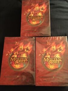 Warcraft WOW Molten Core Raid Deck Sealed New Blizzard Upper Deck CCG LOT OF 3