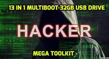 13 in 1 Multiboot Linux 32GB USB Hacking Tools Penetration Test exploit shell