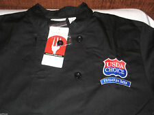 Chef Works New Black Culinary Chef Coat Jacket L Large NWT long sleeve USDA logo