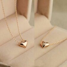 Chic Tiny Elegant Small Gold Love Heart Short Necklace Present Gift Quality High