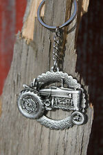 Hastings Pewter Lead Free Pewter Tractor Keychain made in USA gift key chain NEW