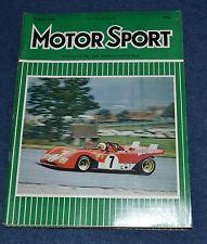 Motor Sport August 1971 CanAm series, British GP, Austrian 1000kms