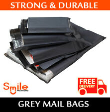 """100 BAGS 12"""" x 16"""" STRONG POLY MAILING POSTAGE POSTAL QUALITY SELFSEAL GREY 57MU"""