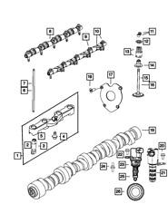 Genuine Mopar Hydraulic Lifters And Yoke Rear 5038786AD
