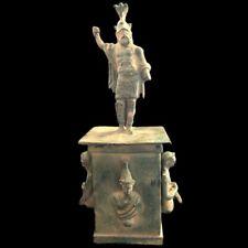 Rare Ancient Roman Bronze Period Statue - 200-400 Ad (8)