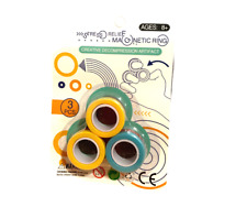 3pcs Magnetic Rings Fingears Stress Relief Anti Stress. Game Toy Activity Fun