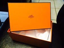 "HERMES GIFT BOX TWO  EMPTY SIZE 6"" X 4"" X 9"" NEW 100 % ORIGINAL"