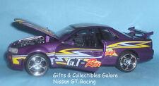Nissan GT-Racing Diecast Car MotorMax Screaming Machines 1:24 Purple Ages 6+