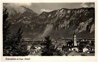 Kiefersfelden Inntal Postkarte 1951 gelaufen Gesamtansicht mit Kirchturm Berge