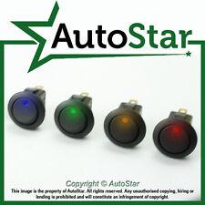 4 X Illuminated 12 Volt Rocker Switch On/off 10 Amp DC Kit Car Trike Custom SPST