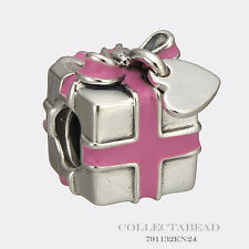 Authentic Pandora Silver Wrapped With Love Pink Enamel Bead 791132EN24