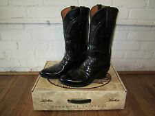 Lucchese Classics L1510 Black Goat Skin Boots       Hobby III
