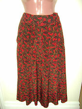 ~ELLEN TRACY RED PRINT BELOW KNEE SILK SKIRT –  8~