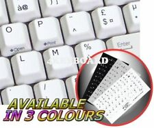 FRENCH AZERTY NON-TRANSPARENT KEYBOARD STICKER WHITE