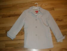 Esprit button-up lightweight quilted jacket, size Small, off-white
