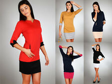 Elegance Women's Dress with Cuffs & Pocket Pencil Style Size 8-14 FA62
