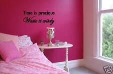 TIME IS PRECIOUS adesivo decalcomania DECORAZIONE D'INTERNI