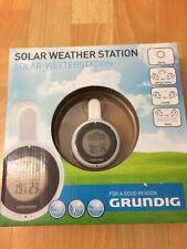Grundig Solar Wetterstation für drinnen und für draußen mit drehbaren Saugnapf